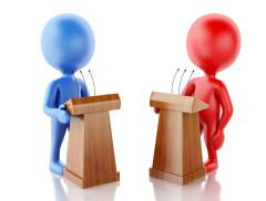 """""""你能闭嘴吗!""""美国总统大选首场辩论上演小学生式吵架!多数观..."""
