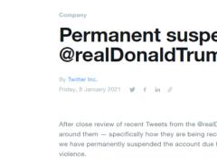 突發!特朗普推特被永久封閉!曾說不會參加拜登就職典禮,拜登:...